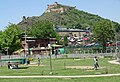 Children Playing with Castle Backdrop - Srinagar - Jammu & Kashmir - India (26210736284).jpg