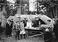 Children and adults near prize table at Bloedel-Donovan Lumber Mills employees picnic, July 22, 1922 (INDOCC 1254).jpg