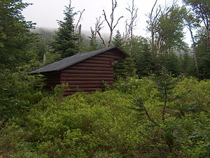 Baxter State Park - One of several lean-to shelters at Chimney Pond, reachable only by trail