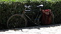 Chinese bike - sidewalk of South Firdawsi st - Nishapur 2.JPG