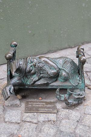 Wrocław's dwarfs - Image: Chrapek (Snorer) Wroclaw dwarf 01