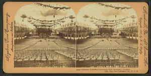 Fitzsimmons vs. Sharkey - The interior of the San Francisco Mechanics Pavilion in 1897.
