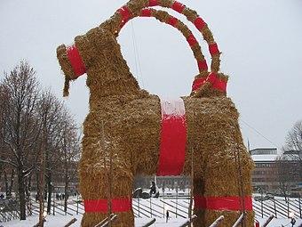 Christmas Goat.Yule Goat Wikipedia