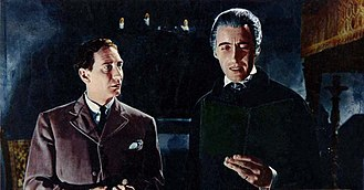 Dracula (1958 film) - John Van Eyssen and Christopher Lee.