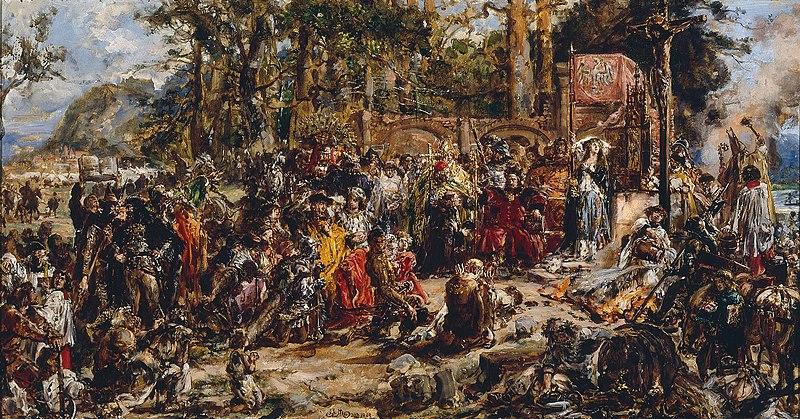 Chrzest Litwy 1387 Matejko