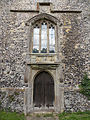 Church of the Holy Cross, Goodnestone - tower west door and window 02.jpg