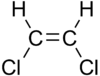 Skeletal formula of cis-1,2-dichloroethene