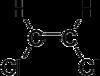Skeletformulo de cis-1,2-dichloroethene