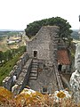 Cistern and general view from the tower of Castelo de Alcanede in June 2020.jpg