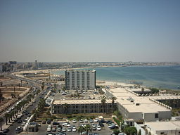 City beach near the Central Business District of Tripoli.jpg