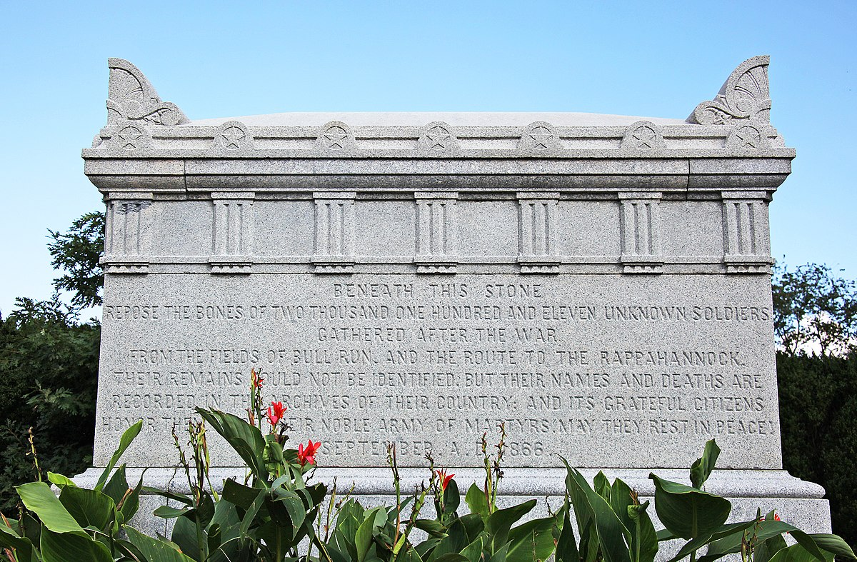 Civil War Unknowns Monument - Wikipedia