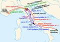 Civil War in Roman Republic 44-43 BC (Mutina and Forum Gallorum).png