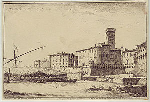 Civitavecchia - Civitavecchia in 1795, etching by William Marlow.