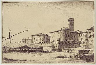 Civitavecchia - Civitavecchia in 1795, etching by William Marlow.