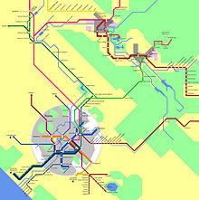 rete dei trasporti del settore nord-est dell'area metropolitana di Roma