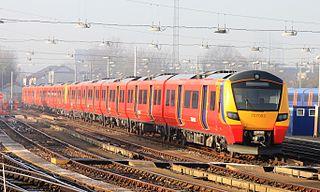 British Rail Class 707 An electric multiple unit built by Siemens