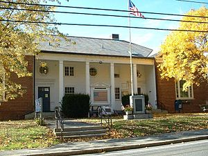 Clarksburg, Massachusetts - Clarksburg Town Hall on an autumn day