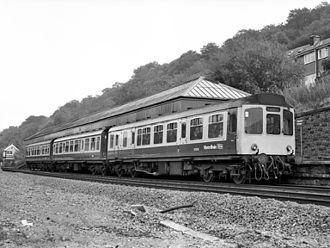 Hebden Bridge railway station - British Rail Class 110 at the station in 1983.