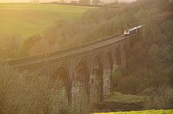 Class 43 on Forder viaduct (9376).jpg