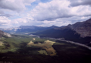 Clearwater River (Alberta) - Image: Clearwater from Alcazar