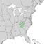 Clethra acuminata range map 3.png