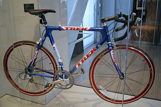 Clinton Presidential Center - One exhibit at the library features a bike given to Clinton by Lance Armstrong
