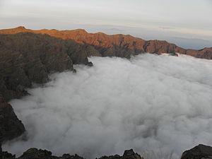 Caldera de Taburiente National Park - Clouds covering a part of the caldera