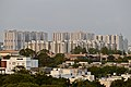 Cluster of Highrise buildings in Hyderabad from Gandipet.jpg