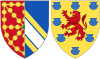 Coat of Arms of Margaret of Bourbon, Queen Consort of Navarre.svg