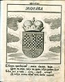 Coat of Arms of Moravia from Stemmatographia by Hristofor Zhefarovich (1741).jpg