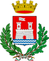 Coat of arms of Livorno (with laurel wreath).png