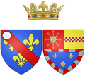 Coat of arms of Marie of Clèves as Princess of Condé.png