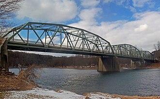 Cochecton–Damascus Bridge - View from Pennsylvania side, 2013