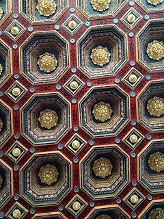 Good Coffered Ceilings Of Mir Castle, Belarus.