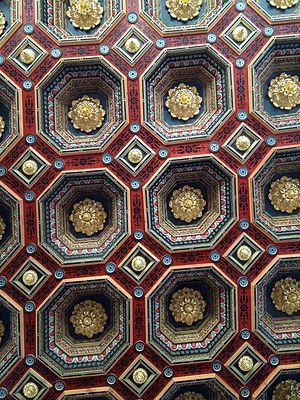 Coffer - Coffered ceilings of Mir Castle, Belarus.