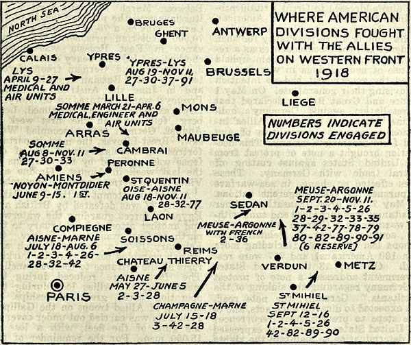 Collier's 1921 World War - where American divisions fought 1918.jpg