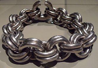 Picts - The Whitecleuch Chain, high status Pictish silver chain, one of ten known to exist, dating from between 400 and 800 AD