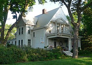 National Register of Historic Places listings in Jefferson County, Nebraska - Image: Colman house (Diller) from SE 1