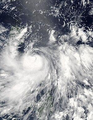 Typhoon Conson (2010) - Image: Conson (Basyang) as a Category 1 Typhoon (07 13 2010)
