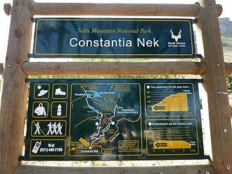 Constantia Nek - Image: Constantia Nek sign