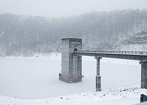Carr Creek Lake - Image: Control tower at Carr Creek Dam