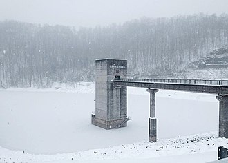 Carr Creek Lake - Image: Control tower at Carr Creek Dam