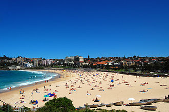 Coogee, New South Wales - Coogee Beach, view from Dolphin Point at the northern end