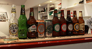 Coopers Brewery - Part of the Coopers range of beers: Clear, 62 Pilsner, Premium Lager, Mild Ale, Dr. Tim's Traditional Ale, Pale Ale, Sparkling Ale, Dark Ale, Best Extra Stout, Extra Strong Vintage Ale.