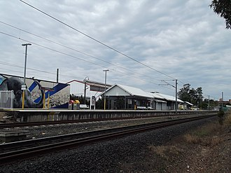 Coorparoo railway station - Westbound view in August 2012