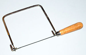 Coping saw - A coping saw.