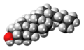 Coprostanol 3D spacefill.png
