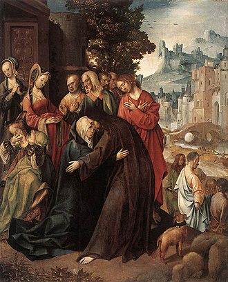 Cornelis Engebrechtsz. - Christ Taking Leave of his Mother. Ca. 1515-1520. Rijksmuseum Amsterdam.