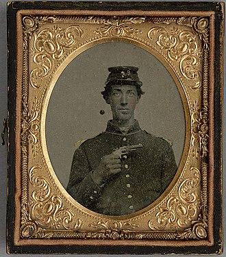 23rd Wisconsin Volunteer Infantry Regiment - Corporal John Griffith Jones (1843-64) of the 23rd Regiment, Wisconsin Volunteers. Killed in action 1864.