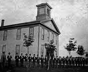 History of Oregon State University - Corvallis College in 1876